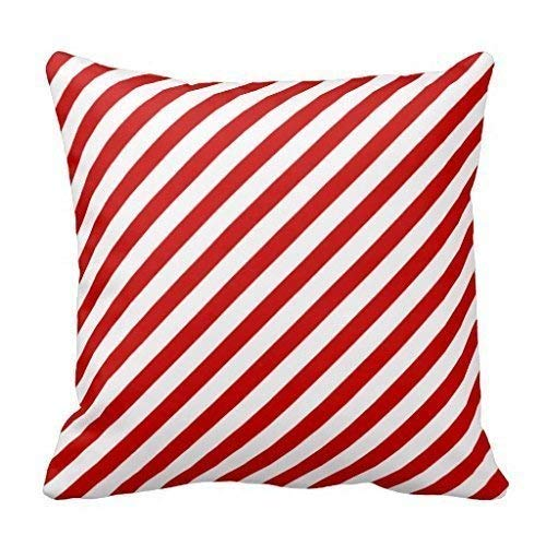 BHYking Throw Pillow Covers, Cushion Covers,Throw Pillow case, Red White Candy Cane Striped ChristmasThrow Pillow Case 18x18 inches/45x45cm