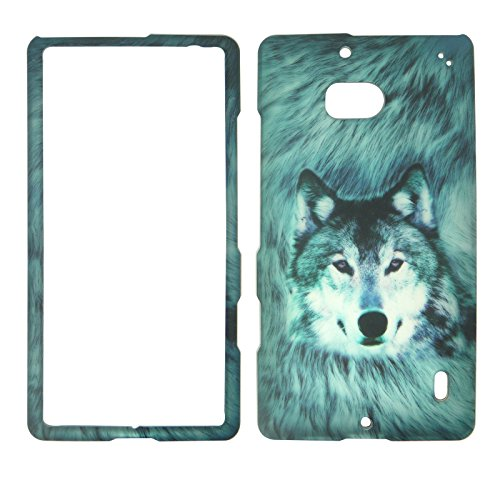 2D Snow Wolf Nokia Lumia Icon 929 Verizon Case Cover Hard Phone Case Snap-on Cover Rubberized Touch Protector (Nokia Icon Verizon)