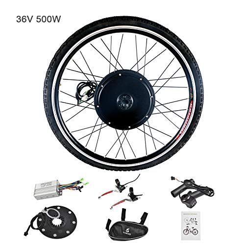 "Murtisol Electric Bicycle Motor Conversion Kit-E-Bike 26"" Front Wheel 36V 500W"
