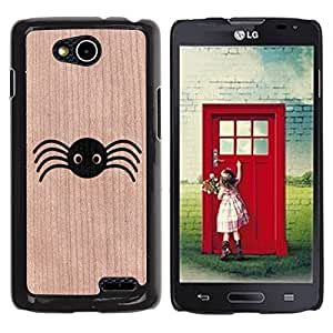 - Funny Cute Spider Animal - - Funda Delgada Cubierta Case Cover de Madera FOR Series III L90 BullDog Case