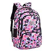 Fanci Geometric Prints Primary School Student Satchel Backpack For Girls