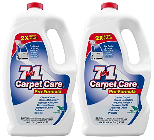 - 7in1 Carpet Care Pro Formula Solution-Case of two 1 gallon bottles
