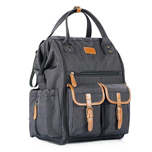 Aautoo Wide Open Diaper Bag Backpack 15 Pockets Waterproof T