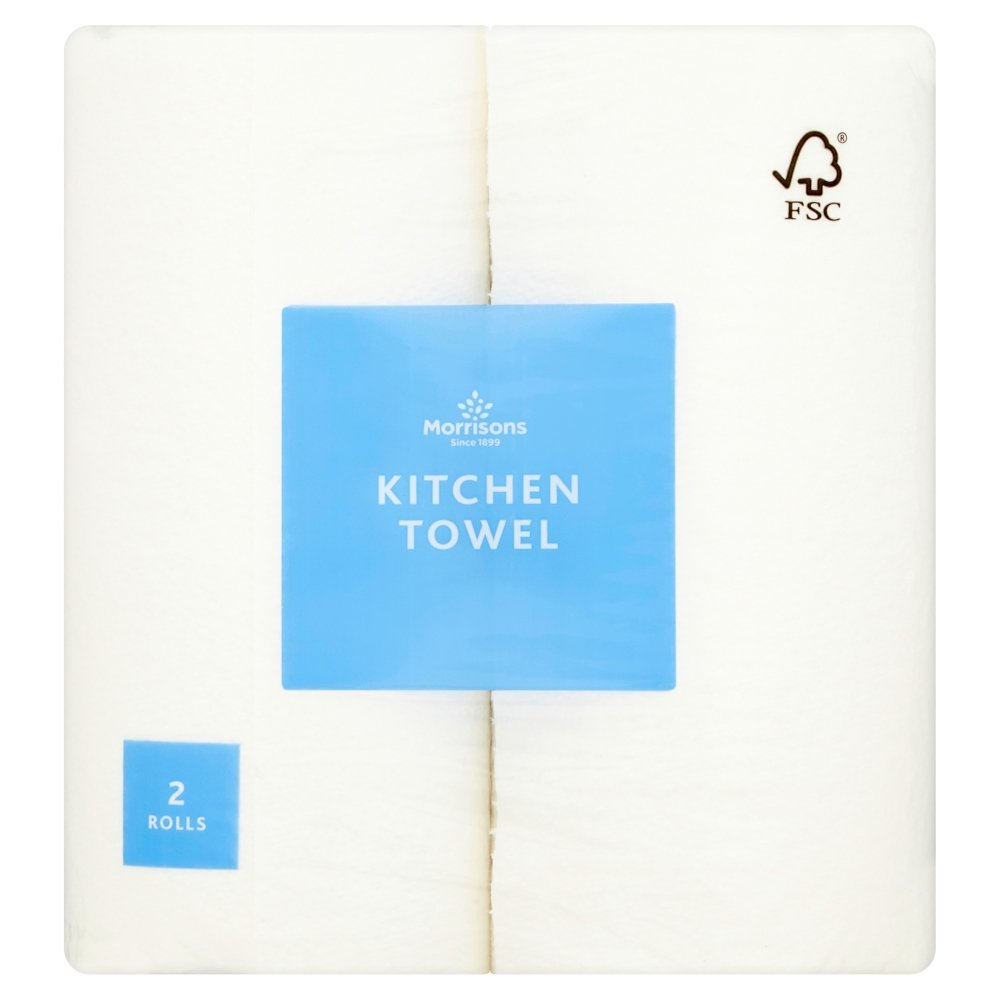 Morrisons Strong and Absorbent Kitchen Towel, 2 Rolls 106638408