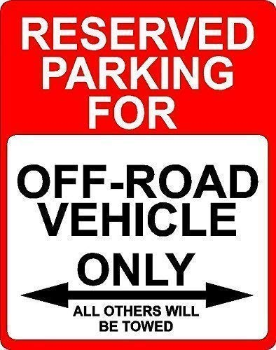 Guadalupe Ross Metal Tin Sign New Off Road Vehicle Transportation Reserved Parking Only Wall Decor Metal Sign 12X16 Inches