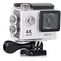 KuGi Ultra HD 4K Sport Action Camera WIFI 1080P 60fps HDMI 20MP+170 Degree Wide Viewing Angle 2.0 inch LCD Screen Waterproof Sport DV Camcorder with Accessories Kit for Extreme Outdoor Sports(White)