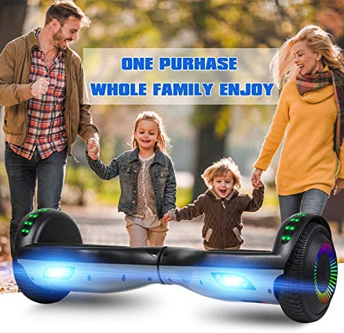 "LIEAGLE Hoverboard, 6.5"" Self Balancing Scooter Hover Board with UL2272 Certified Wheels LED Lights for Kids Adults"