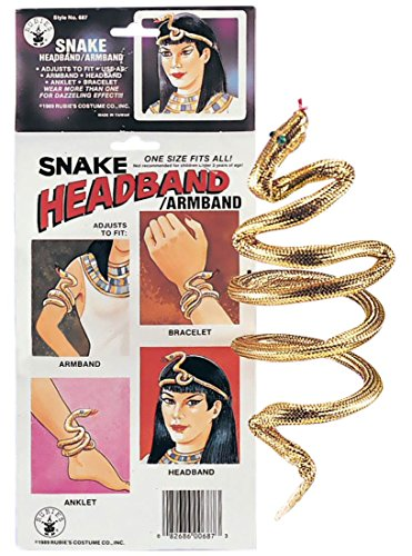 Gold Snake Costume Armband Bracelet