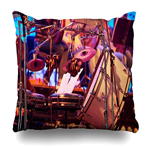 - Ahawoso Throw Pillow Cover Square 16x16 Inches Caribbean Percussion Stage Before Concert Abstract Drum African Afuche Assorted Assortment Beat Zippered Cushion Pillow Case Home Decor Pillowcase