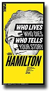 Hamilton Poster - Broadway Musical Play 10 x 17 Alexander Lin Manuel-Miranda Public by Concert Promoter