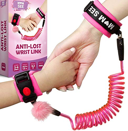Baby Anti Lost Wrist Link - Wrist Leash for Kids - Child Safety Wristband - Toddler Harness Leashes (Child Safety Device)