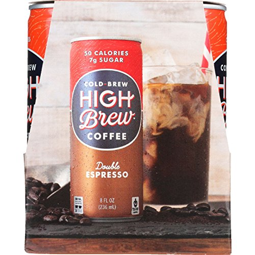 High Brew Coffee Coffee - Ready to Drink - Double Espresso - 4/8 oz - case of 6 - Gluten Free - Dairy Free