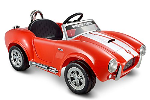 (Kid Motorz 12V Shelby Cobra One Seater Ride On, Red)