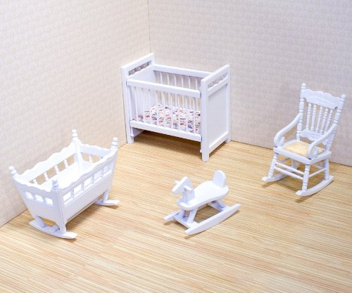 Melissa & Doug Classic Wooden Dollhouse Nursery Furniture for sale  Delivered anywhere in Canada