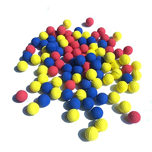 100pcs Rival Refill Replace Round balls Foam Bullet Balls Pack for Children Kids Toy Guns. (mix color)