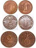 DE 1938 ALL NAZI COINS MINTED in BRONZE