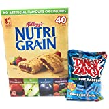 Nutrigrain Bars Bundle Pack: Includes 40 Cereal Bars + Sample Pack of Tangy Zangy Sour Candy