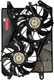 APDTY 731140 Dual Radiator & A/C Condenser Cooling Fan Assembly W/o Controller Fits 05-08 Chrysler 300, 08-09 Dodge Challenger w/6.1L Engine, 06-08 Dodge Charger (Replaces 5137714AA, 5137715AA)