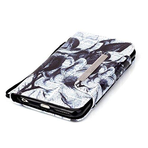 Ougger(TM) iphone 6s plus Etui Coque, [Dragonne] Unique Cool Pattern Flip Cuir Poche Housse Portefeuille avec ID Card Slot Protecteur Fonction Debout Cover Case Pour Apple iphone 6s plus 5.5 inch