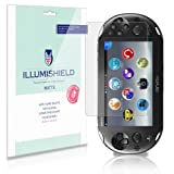 iLLumiShield - Sony Playstation Vita PCH-2000 Anti-Glare (Matte) Screen Protector HD Clear Film / Anti-Bubble & Anti-Fingerprint / Premium Japanese High Definition Invisible Crystal Shield - Free LifeTime Warranty - [3-Pack] Retail Packaging