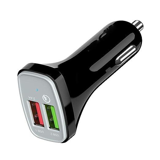 SHWCC Cargador De Coche Cargador De AutomóVil, Doble USB Uno ...