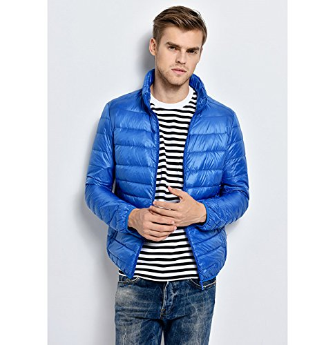 Lightweight Down Warm Skyblue Mens Coat Lovache Packable Jacket Padded qpw1IIAv