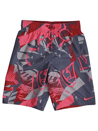 Boys Graffiti - NIKE Big Boys Drift Graffiti Breaker University Red 8-Inch Trunks Swimwear SZ: M