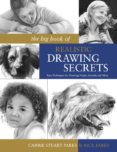 The Big Book of Realistic Drawing Secrets: Easy Techniques for drawing people, animals, flowers and nature (Drawing For Beginners Step By Step Easy)