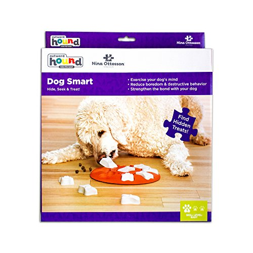 51xx7XTIwvL - Nina Ottosson Dog Smart Beginner Dog Puzzle Toy - Engaging and Interactive Treat Dispensing Game for your Dog's Toy Box