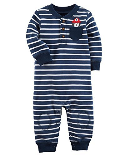 Carter's Baby Boys' Long Sleeve Striped Jumpsuit 6 -