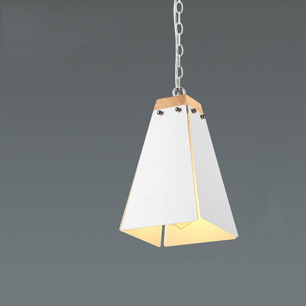 Kronleuchter Moderne Minimalistische Kreative Persönlichkeit DREI Lampen Wohnzimmer Esszimmer Bar Schlafzimmer Nacht Einzel Kopf (Farbe   Weiß, Größe   26  30cm)
