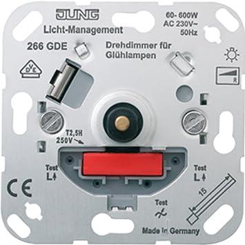 Jung 266GDE Drehdimmer mit Druck-Wechselschalter: Amazon.de: Baumarkt
