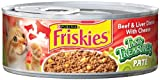 Purina Friskies Tasty Treasures Paté, Beef and Liver Dinner with Chees Cat Foode, 5.5-Ounce (Pack of 24), My Pet Supplies