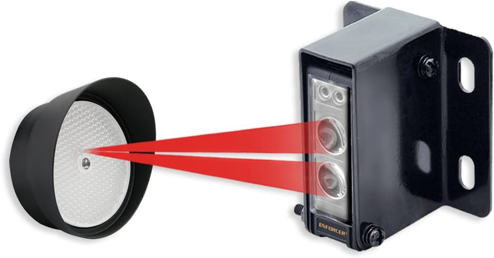 Seco-Larm E-936-S45RRGQ Retro Reflective Photoelectric Beam Sensor, 45ft (14m) Sensing Range, Weatherproof (IP66) construction for indoor/outdoor use, Pre-wired 6ft (1.8m) cord