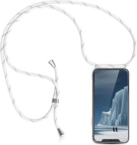 Hecho a Mano en Berlin con Cordon para Llevar en el Cuello Carcasa de m/óvil iPhone Samsung Huawei con Correa Colgante KNOK case Funda Colgante movil con Cuerda para Colgar iPhone 7//8