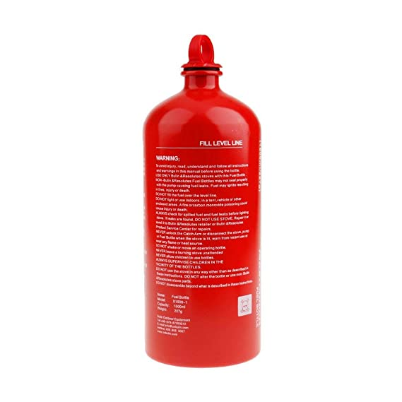 Yundxi Al Aire Libre Camping Viaje Picnic Gas Aceite Botella vacía de Combustible Motocicleta de Emergencia Puede 0.5L 0,75 l de Almacenamiento de Gasolina ...