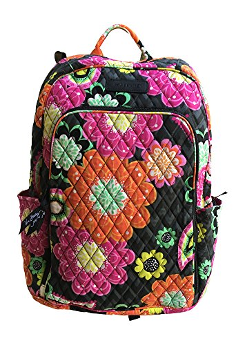 Vera Bradley Laptop Backpack with Solid Color Interiors Ziggy Zinnia