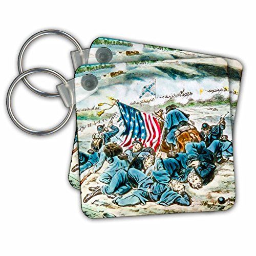 American War Civil Accessories (Scenes from the Past Magic Lantern Slides - Vintage American Civil War Battle of Fredericksburg Virginia - Key Chains - set of 6 Key Chains (kc_269842_3))