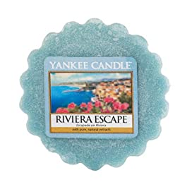 Yankee Candle Riviera Escape Wax Tart Melt, Blue, 5.7 x 5.7 x 1.7 cm