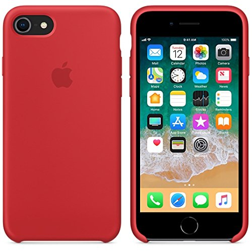 BigMike Compatible for iPhone 7 Case, iPhone 8 Case, Soft Liquid Silicone Shock-Absorption Case with Soft Microfiber Cloth Lining Cushion for iPhone 7/8-4.7inch (Red)