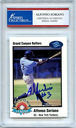 Alfonso Soriano Arizona Fall League Rookie New York Yankees Autographed Signed Trading Card - Certified Authentic
