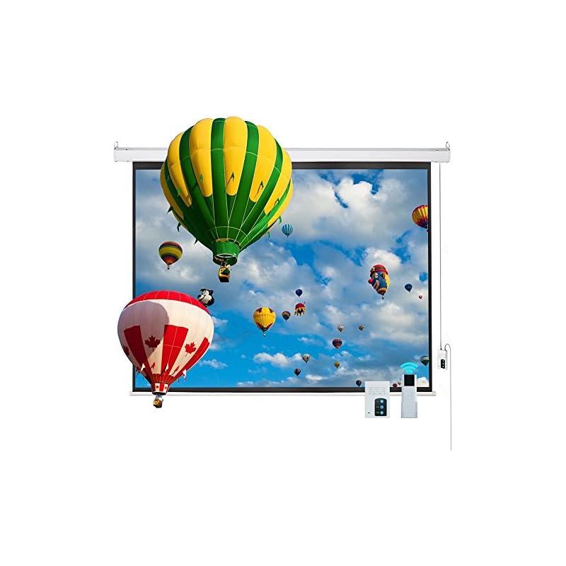 "Cloud Mountain 100"" 4:3 HD Electric Proj"