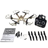 LandFox MJX X601H WiFi FPV 720P CAMERA 2.4G 4CH 6 Axis Gyro Hexacopter 3D Rollover,Gold