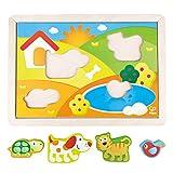 Hape Kids Pepe & Friends 3-1 Puzzle Wood Puzzle (3 Piece)