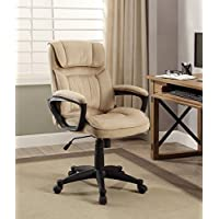 Serta Style Hannah I Office Chair, Microfiber, Light Beige