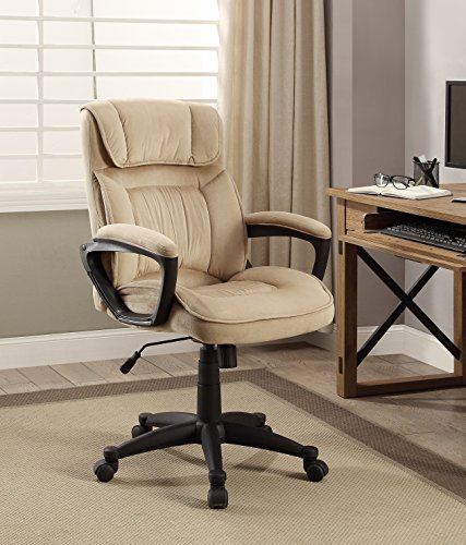 Serta Style Hannah I Office Chair, Microfiber, Light (Style Fabric Upholstered Chair)