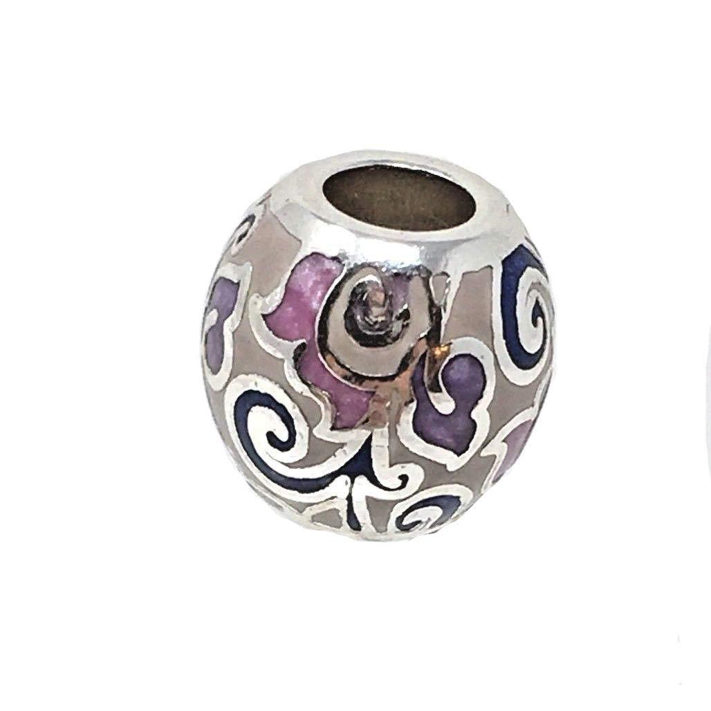 Brighton Damascus Enamel Swirl Bead Multi Color Silver Plated