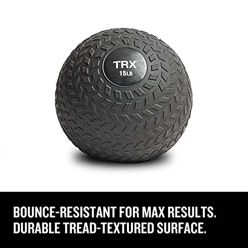 TRX Training Slam Ball with Easy-Grip Textured Surface and Ultra-Durable Rubber Shell (25 Pound)