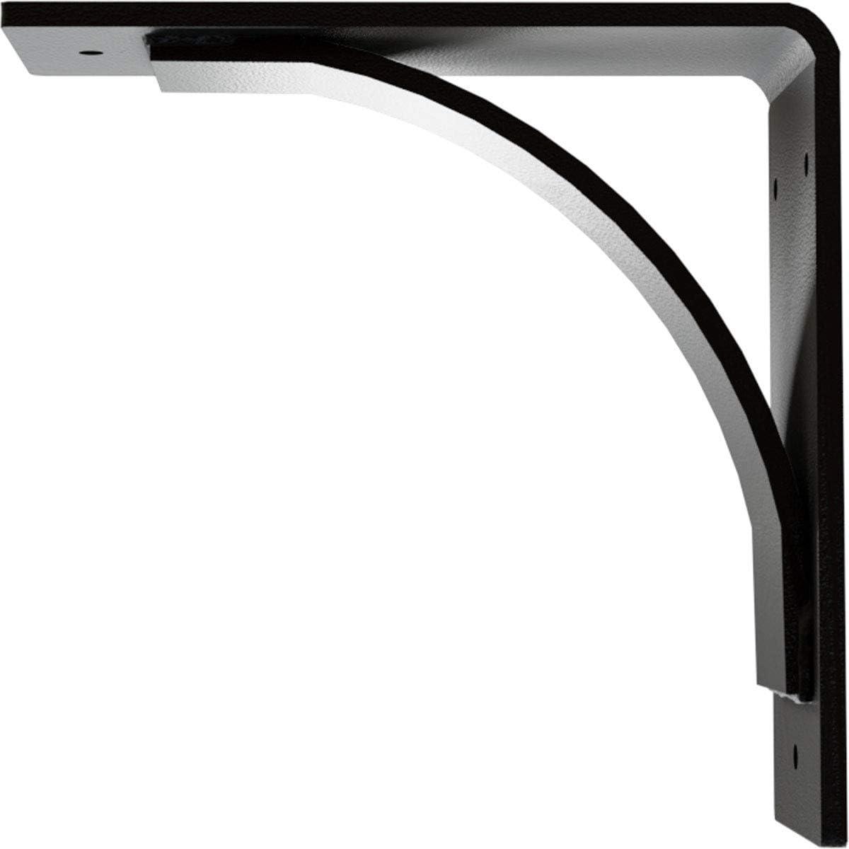 Hammered Black 3W x 8D x 8H Ekena Millwork BKTM03X08X08MOHBL Steel Bracket