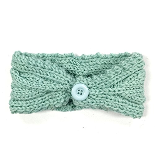 Wrapables Thick Cable Knit Headband for Teens and Girls, Mint